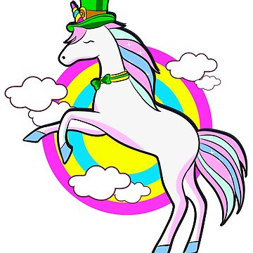 Irish Unicorn Jumping  St. Patrick's by frittata