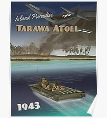 Tarawa 1943 - Coral Atoll-Reiseplakat Poster