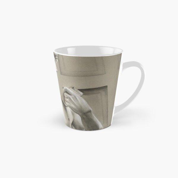 Michelangelo's David with iPhone Tall Mug