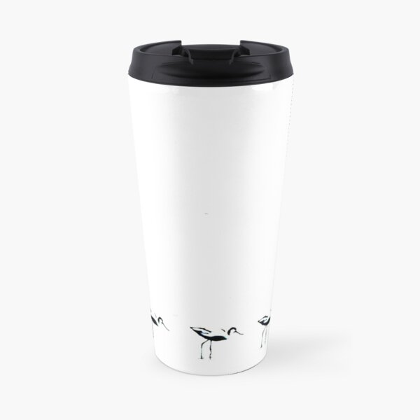 Avocets in a row Travel Mug