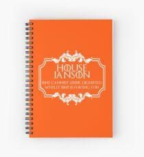 House Janson (white text) Spiral Notebook