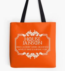 House Janson (white text) Tote Bag