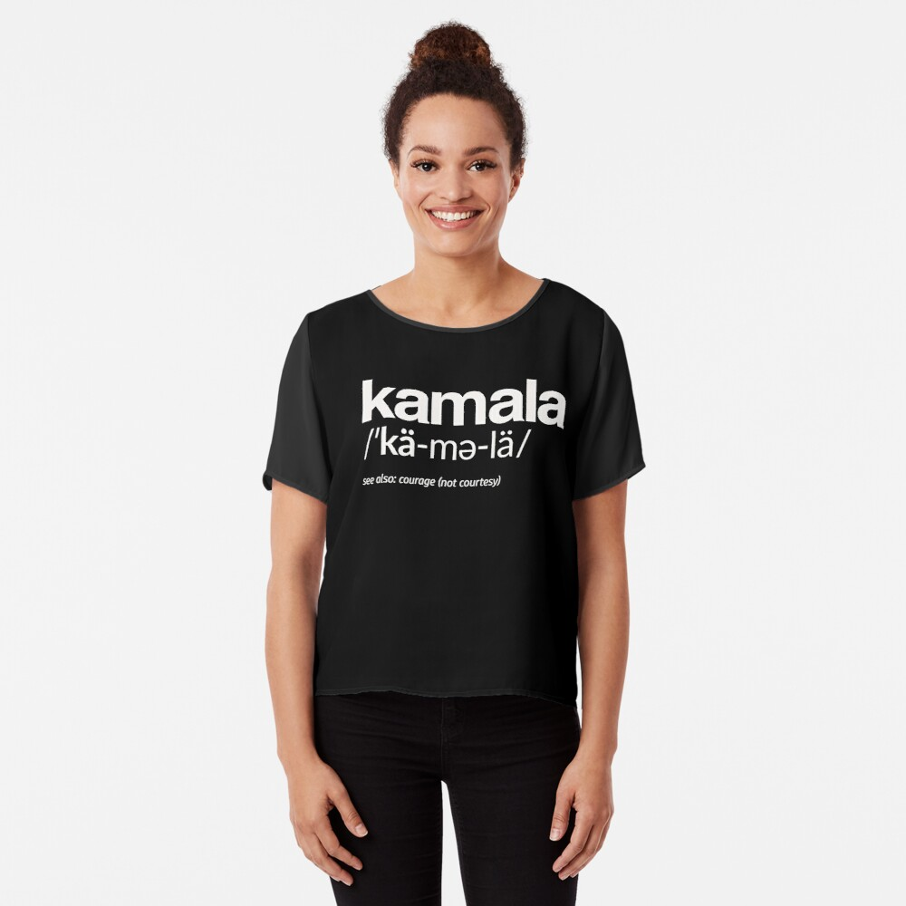 Kamala Harris 2020 Aussprache und Definition Chiffon Top