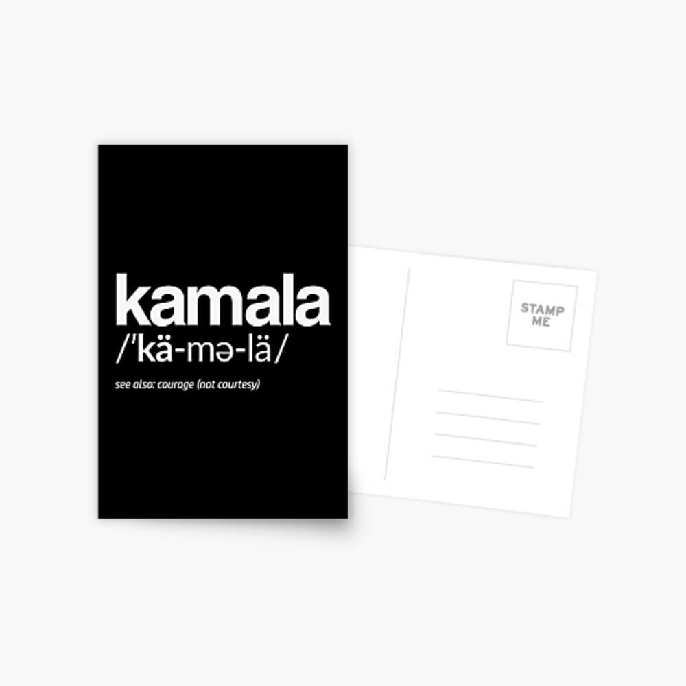 Kamala Harris 2020 Aussprache und Definition Postkarte
