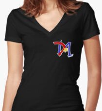 Yu-Gi-Oh GX - Duel Academy Logo Women's Fitted V-Neck T-Shirt
