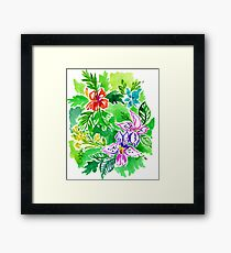 the grass on the other side. Framed Print
