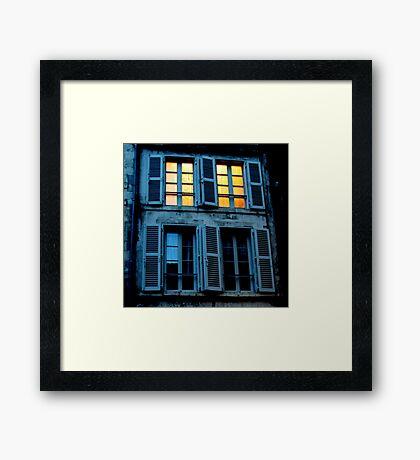 What light through yonder window breaks? Framed Print