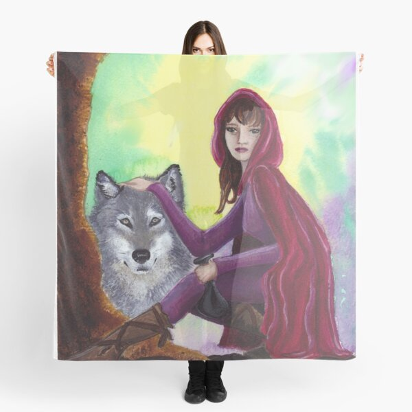 Red and the Wolf Scarf