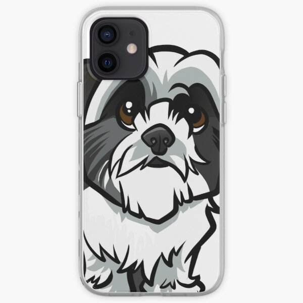Shih Tzu - Black and White iPhone Soft Case