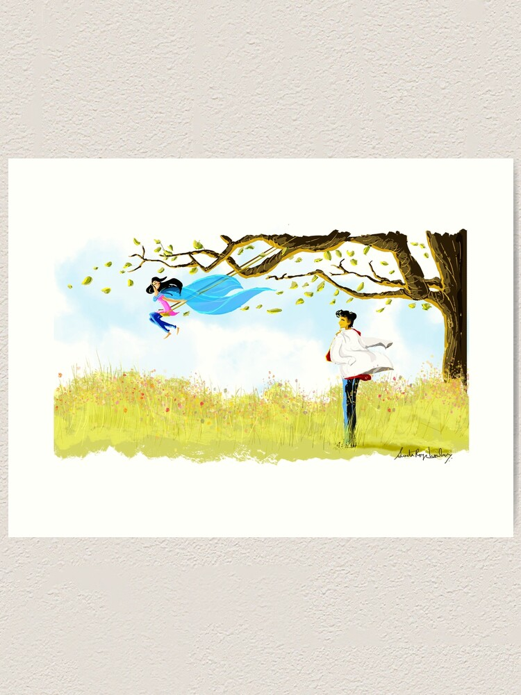 Alternate view of That day together Art Print