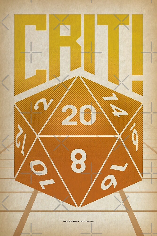 Crit Success - Yellow by Justin Klett