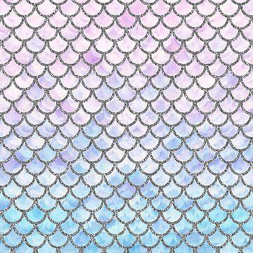 Patrón de escalas de sirena pastel de artlovepassion