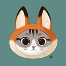 Cat with fox hat by Sarah-Lisa Hleb