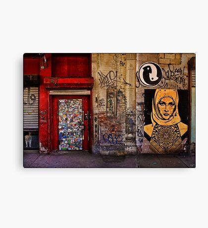 West Village Wall, New York City Canvas Print