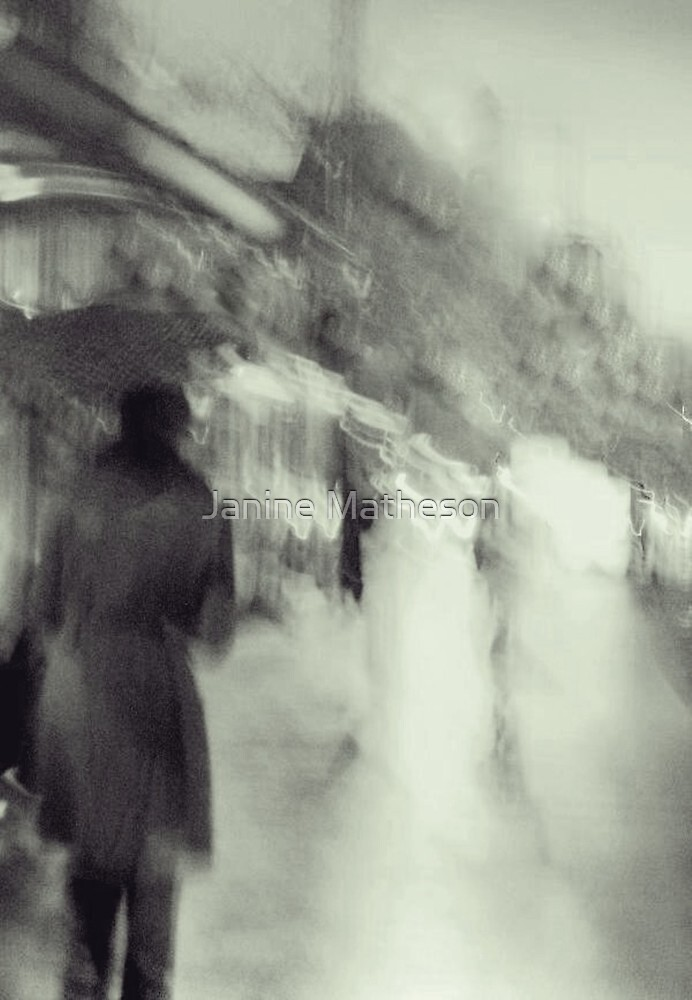 rainy day woman by Janine Matheson
