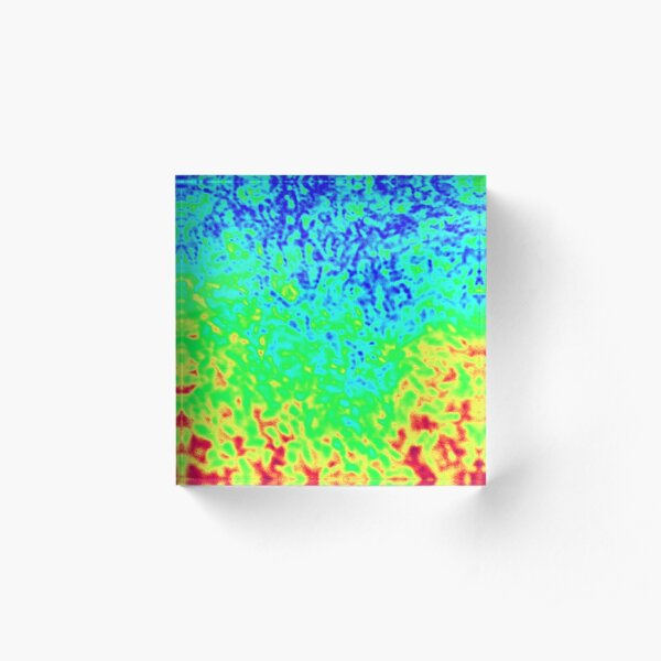 Thermal Shag Acrylic Block