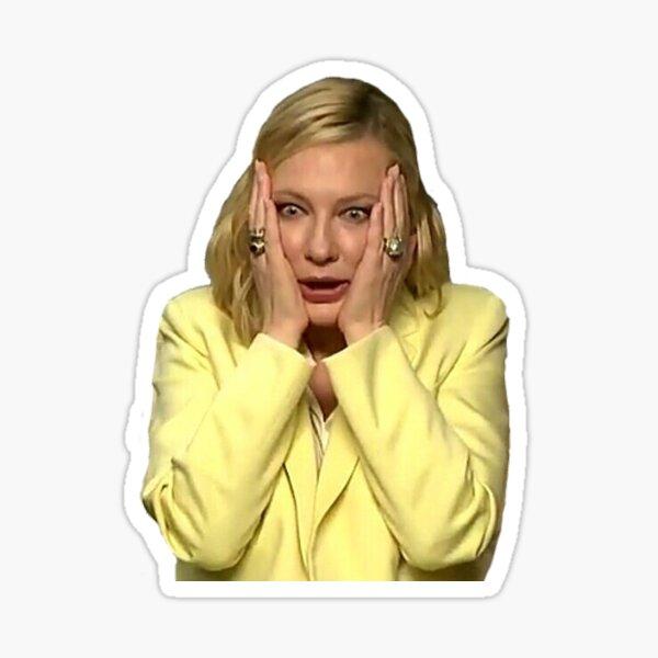 Cate Blanchett gerät in Panik Sticker