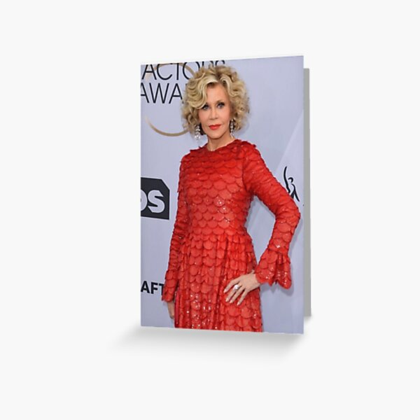 Jane Fonda  Greeting Card