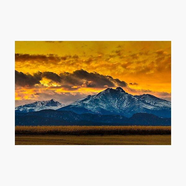 Locomotion Sunset Photographic Print