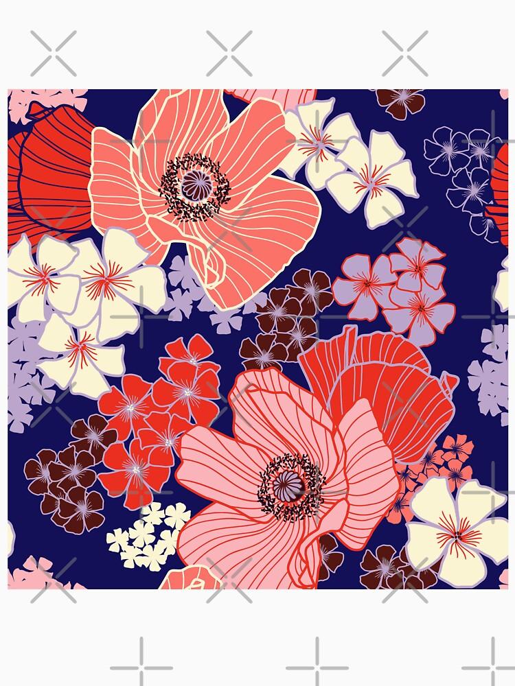 Wild Poppies pattern by nadyanadya