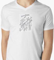 exploded rifle Mens V-Neck T-Shirt