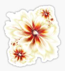 T-flowers again Sticker