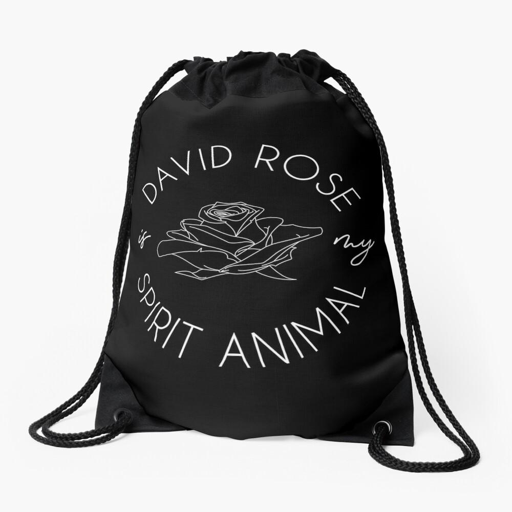 David Rose Is My Spirit Animal Drawstring Bag
