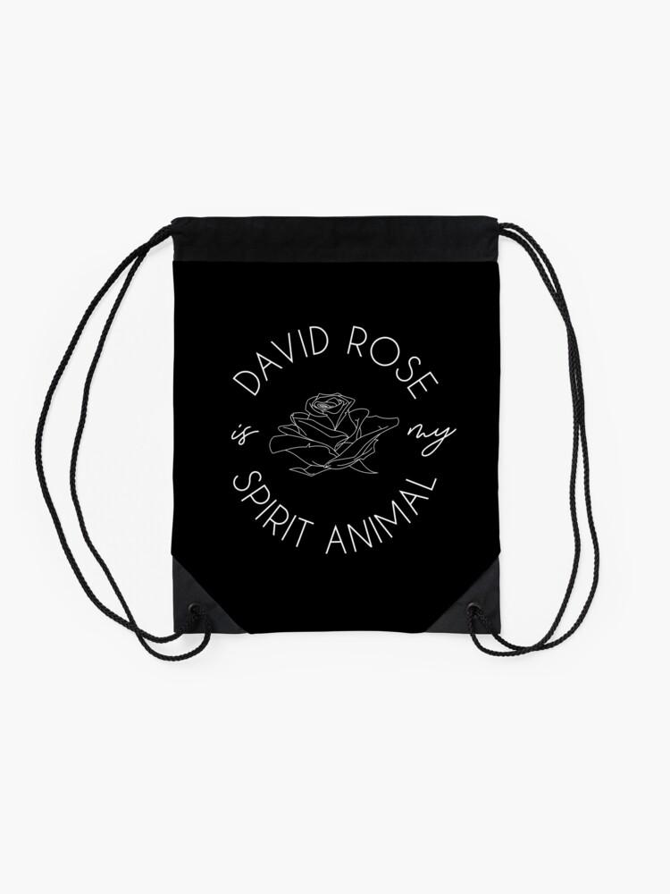 Alternate view of David Rose Is My Spirit Animal Drawstring Bag
