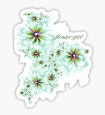 T-flower girl Sticker
