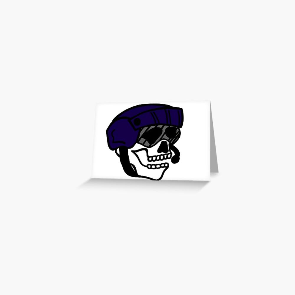 Coast Guard Skulls - Flight Mech Helmet Greeting Card