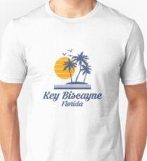 Key Biscayne Florida Shirt FL State Home City Tourist Travel Souvenir Beach Gift Slim Fit T-Shirt