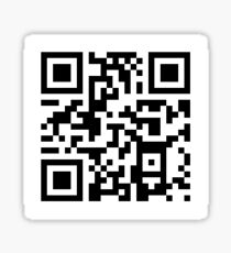 communist manifesto qr code Sticker