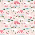Flamingos by Angie Spurgeon