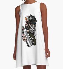 spray, rap cartoon A-Line Dress