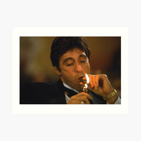 Tony Montana - Cigar Art Print