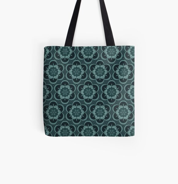 Flower power gothic floral All Over Print Tote Bag
