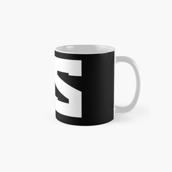 Red Scare White on Black Classic Mug