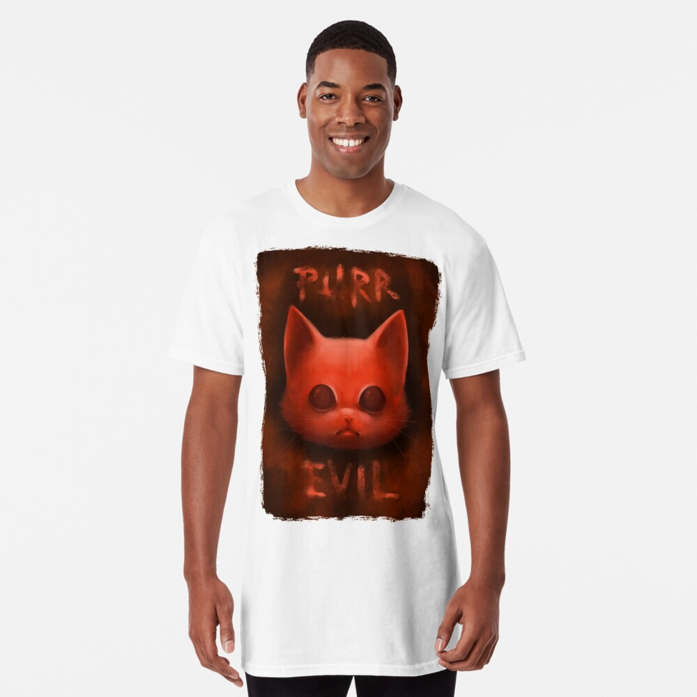 T-shirt long «PurrEvil»