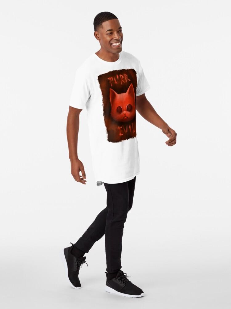 T-shirt long ''PurrEvil': autre vue