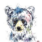 Baby Black Bear Watercolor Painting by Lisa Whitehouse
