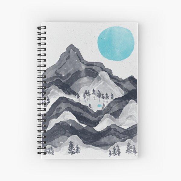 The Sun in Moon Lake... Spiral Notebook