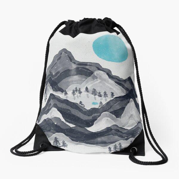 The Sun in Moon Lake... Drawstring Bag