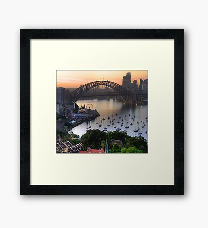 A City In Focus - Sydney Harbour - Moods Of A City -The HDR Experience Framed Print