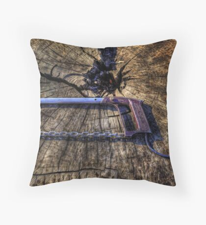 Dad's Electric Chain Saw Throw Pillow