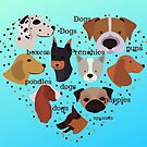 Dogs, puppies, French Bulldog, Pugs, Poodles by Angie Stimson