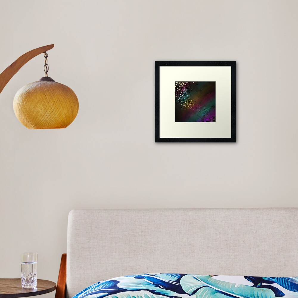 Explosion of Feelings - Abstract Texture Framed Art Print