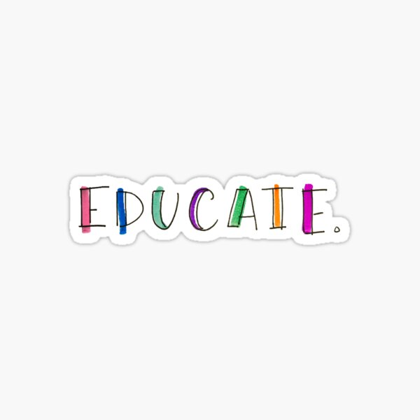 EDUCATE Sticker