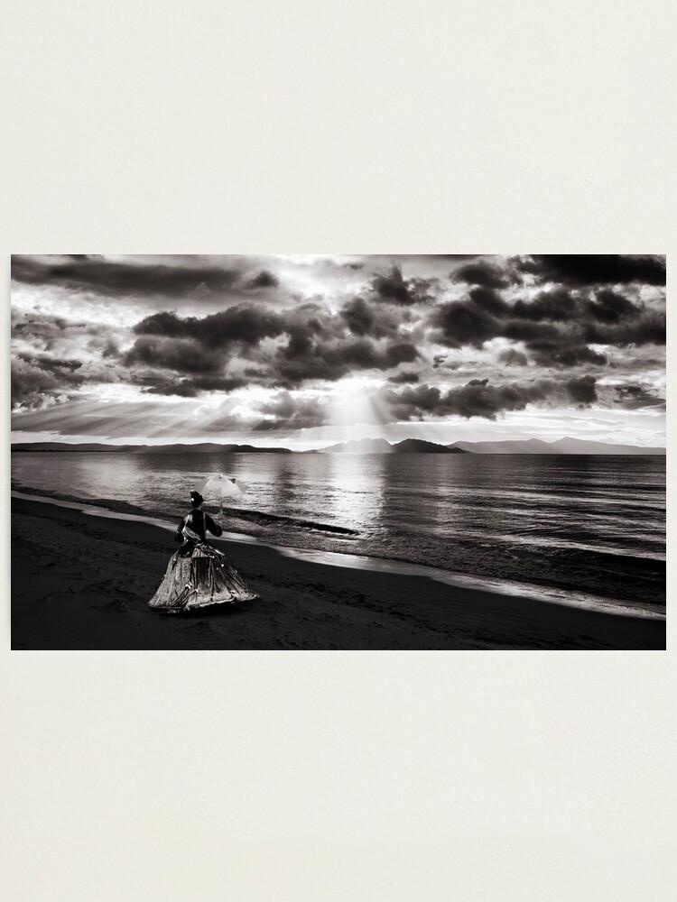 Alternate view of Singing To The Sunrise - Nine Mile Beach, Tasmania Photographic Print
