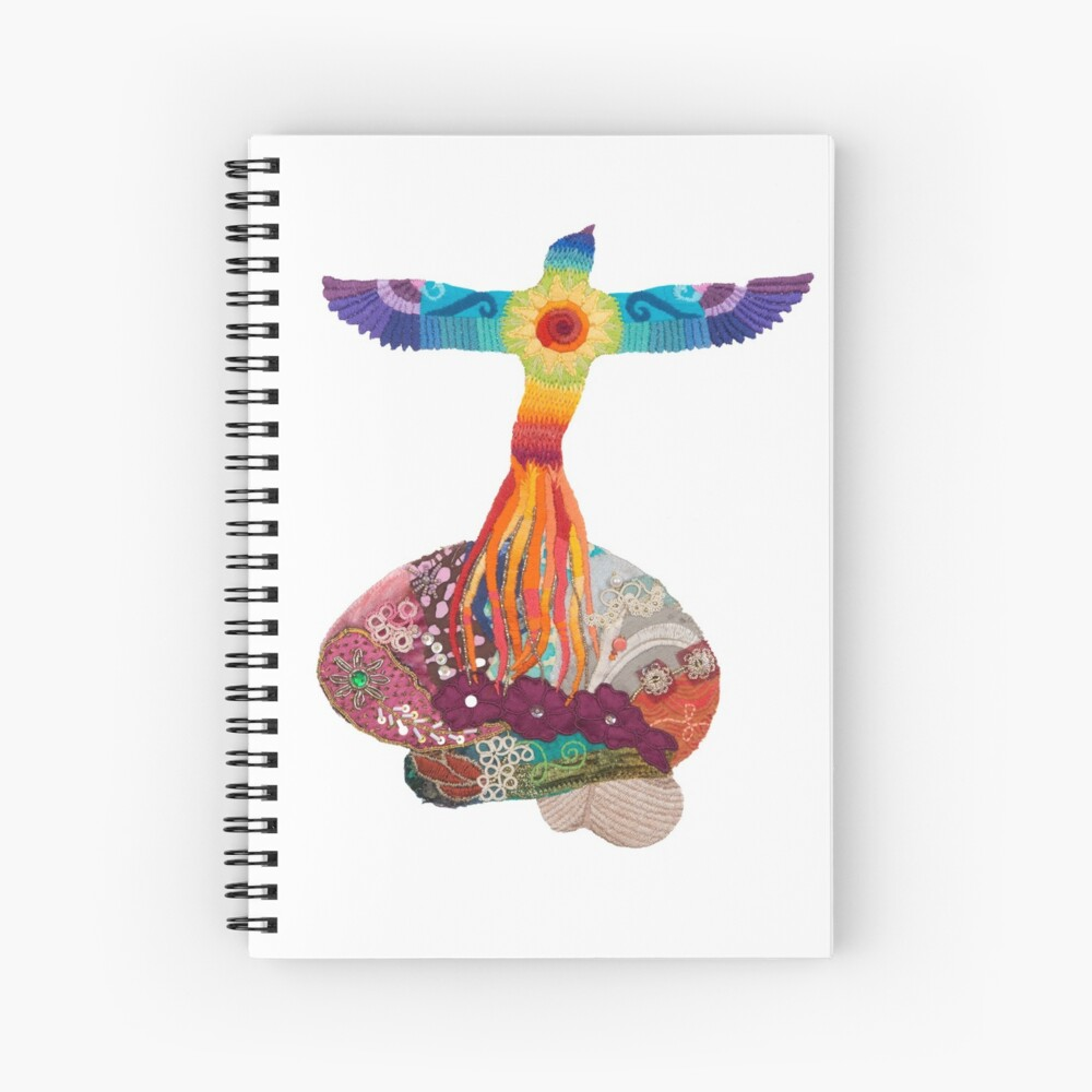 Rising Phoenix Brain - for neuro motivation Spiral Notebook