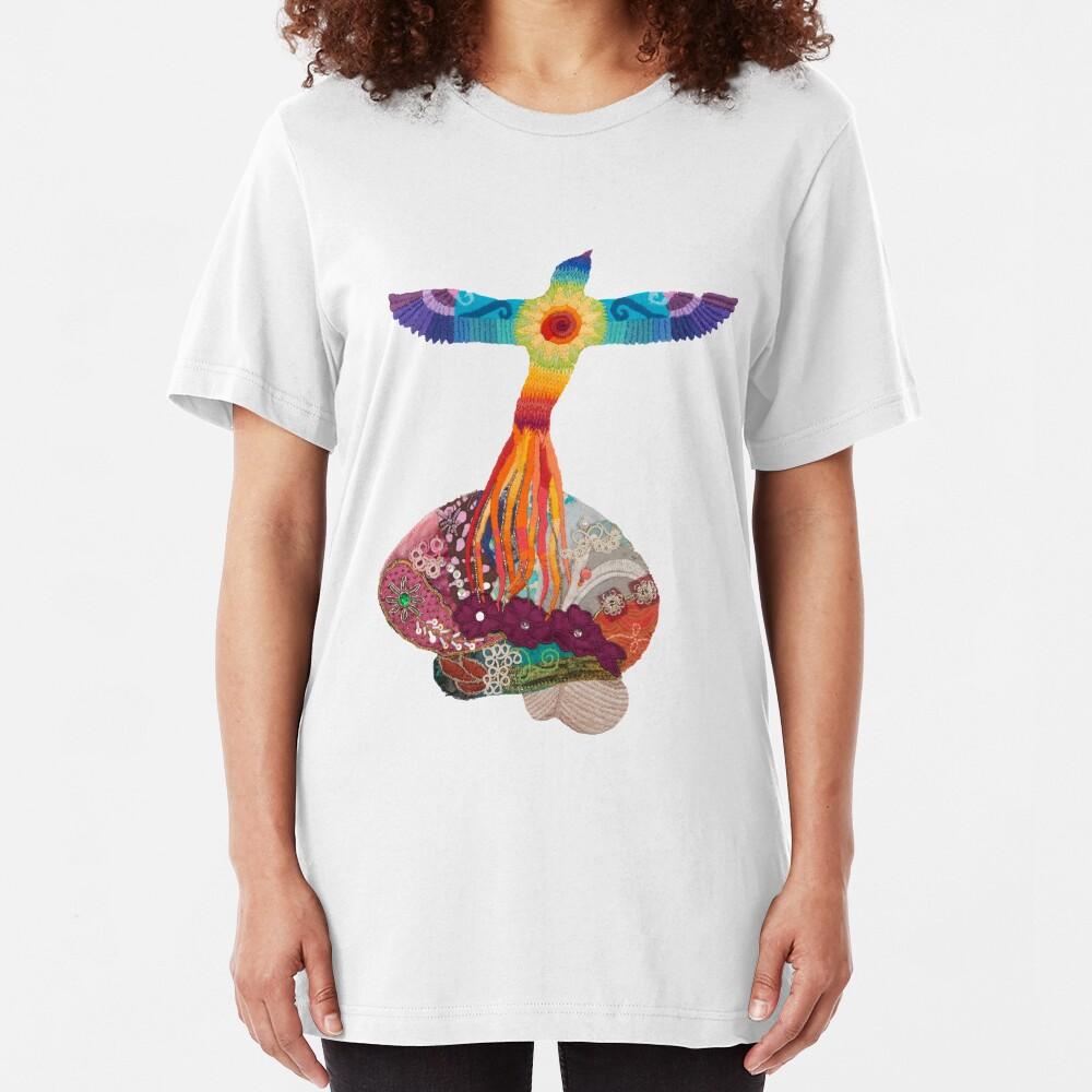 Rising Phoenix Brain - for neuro motivation Slim Fit T-Shirt